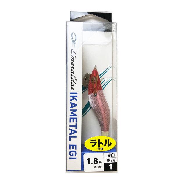 【Cpost】ダイワ エメラルダス イカメタルエギ RV 1.8号 赤-赤白(da-127189)