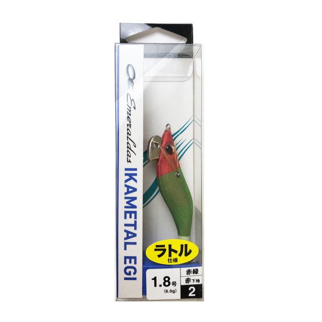 【Cpost】ダイワ エメラルダス イカメタルエギ RV 1.8号 赤-赤緑(da-127196)