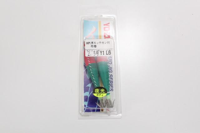 デュエル [HP]浮スッテカン Y1 布巻 2.5号 L赤*緑