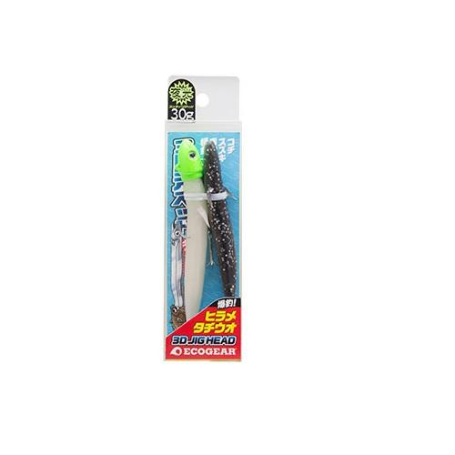 【お取り寄せ品】(Cpost)エコギア 3Dジグヘッド (ワーム付) 30g(eco-035952)