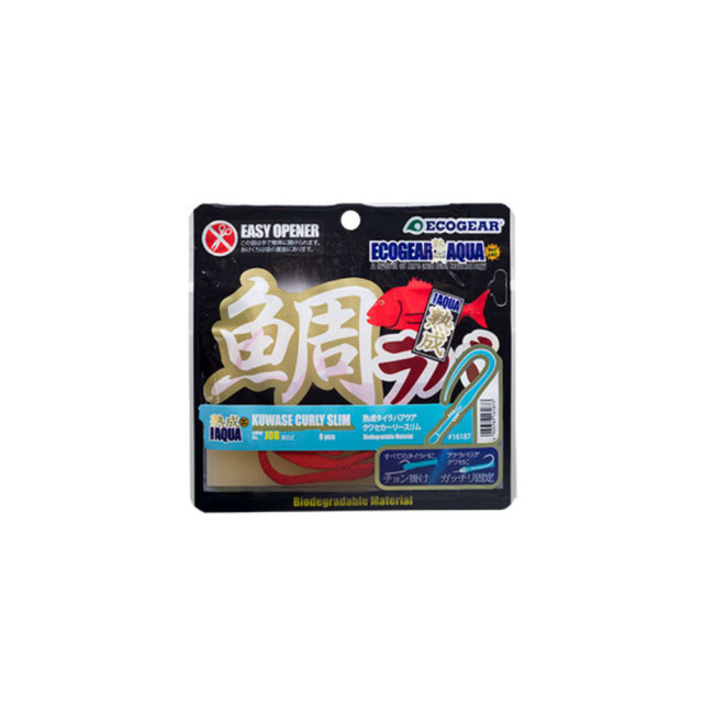 【Cpost】エコギア 熟成タイラバ アクア クワセカーリー スリム 120mm 8pcs(eco-jukusei-cs)