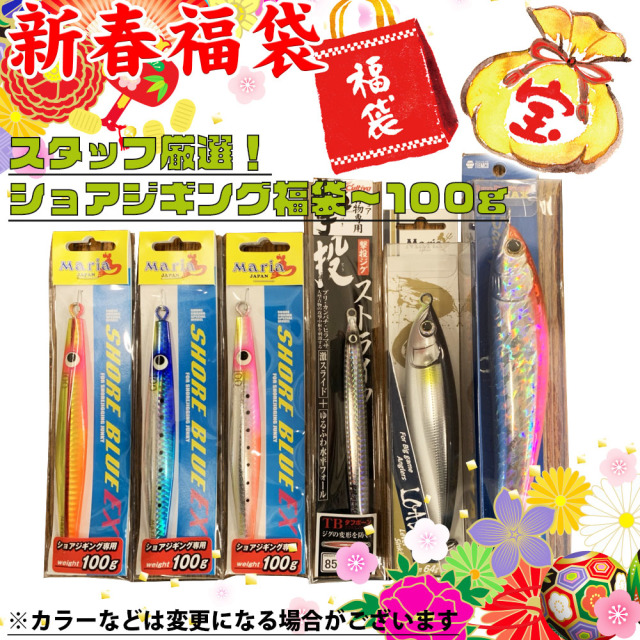 【Cpost】【2020年福袋】ショアジギング福袋 100gまで(fuku2020-13)