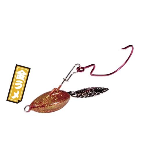 【Cpost】マグバイト スイミングリグ 艶バサロ 14g 金ラメ(hari-302289)
