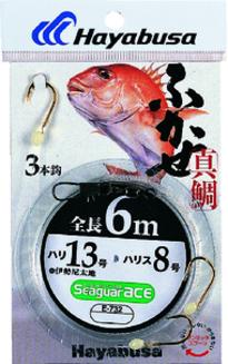 【Cpost】ハヤブサ ふかせ真鯛 6m 3本鈎 E-732 11号/ハリス4号(haya-433804)