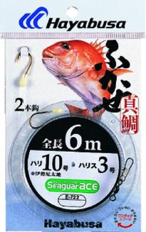 【Cpost】ハヤブサ ふかせ真鯛 6m 2本鈎 E-722 12号/ハリス6号(haya-433927)