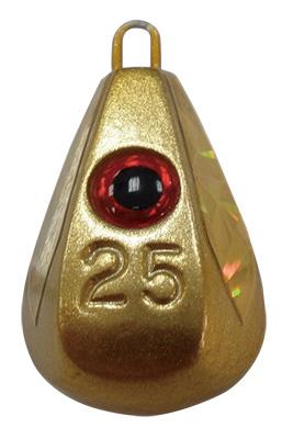 【Cpost】ハヤブサ 目玉集魚シンカー ホロフラッシュ 25号 フラッシュゴールド P582-40 (haya-810292)