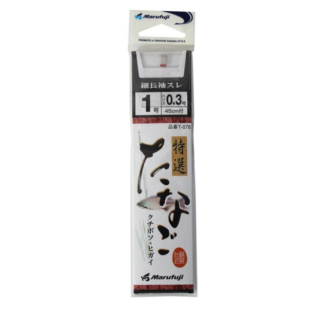 【Cpost】マルフジ 特撰たなご 細長袖スレ針糸付き T-078 (hd-7189)
