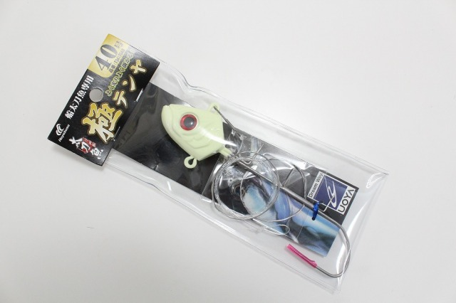 【Cpost】ハヤブサ 船太刀魚専用 極テンヤ 40号 夜光モデル