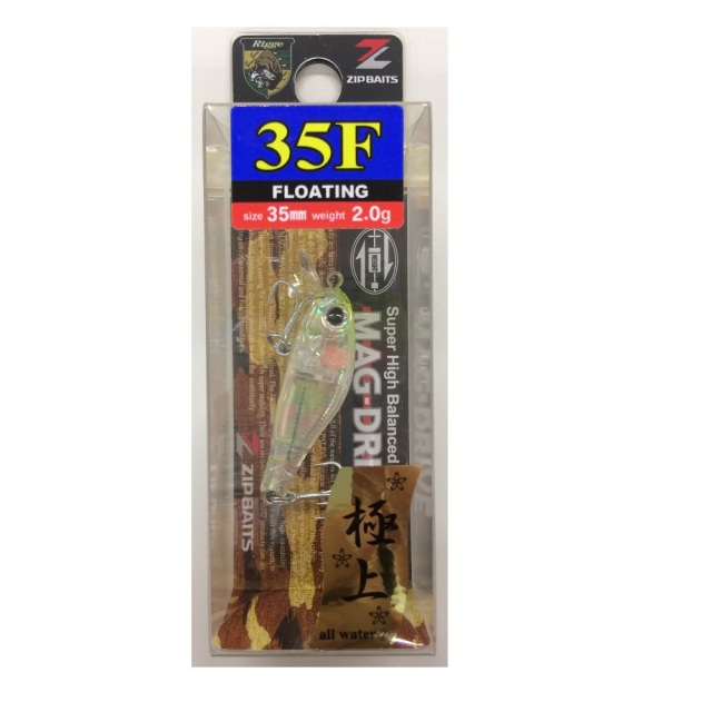 【Cpost】ジップベイツ リッジ 35F クリアチャートヘッド極上アバロン