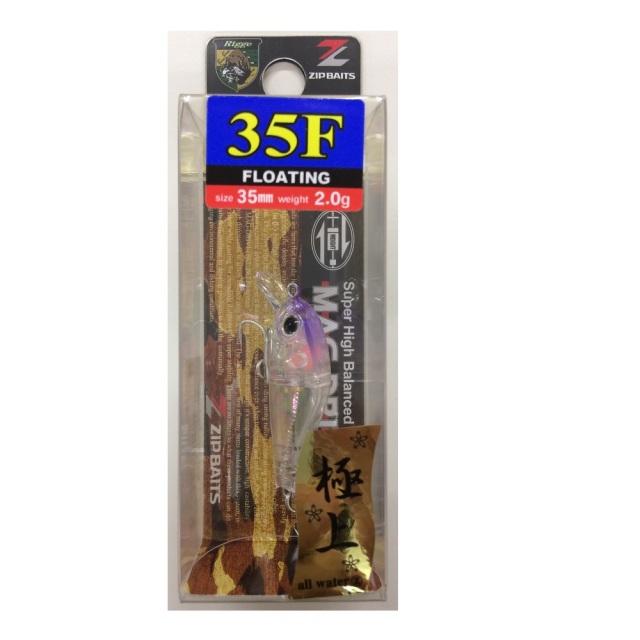 【Cpost】ジップベイツ リッジ 35F クリアパープルヘッド極上アバロン