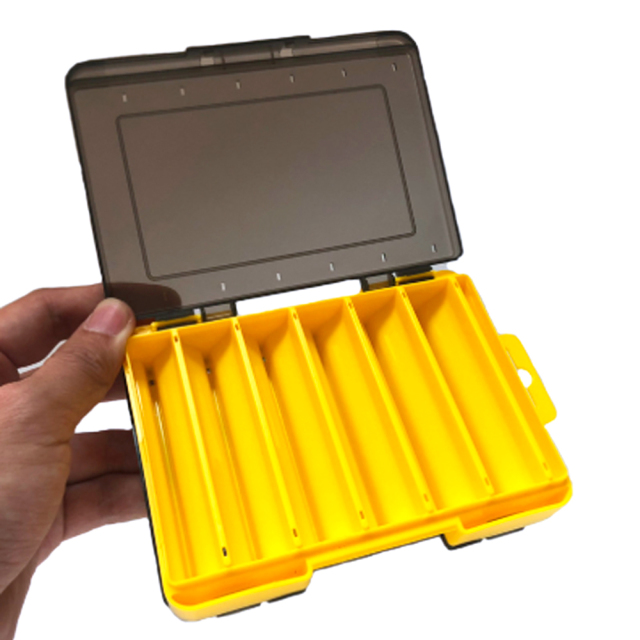 【Cpost】両面収納 ルアー ケース ルアー ボックス 小型 14*10.5*3cm エギ ジグ12個収納可能 (600020)