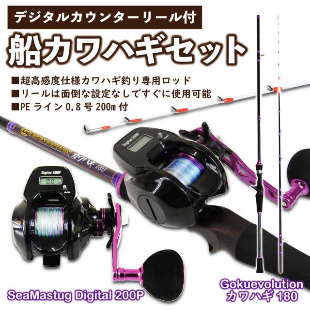 デジタルカウンターリール付船カワハギセット(kawahagi-001)