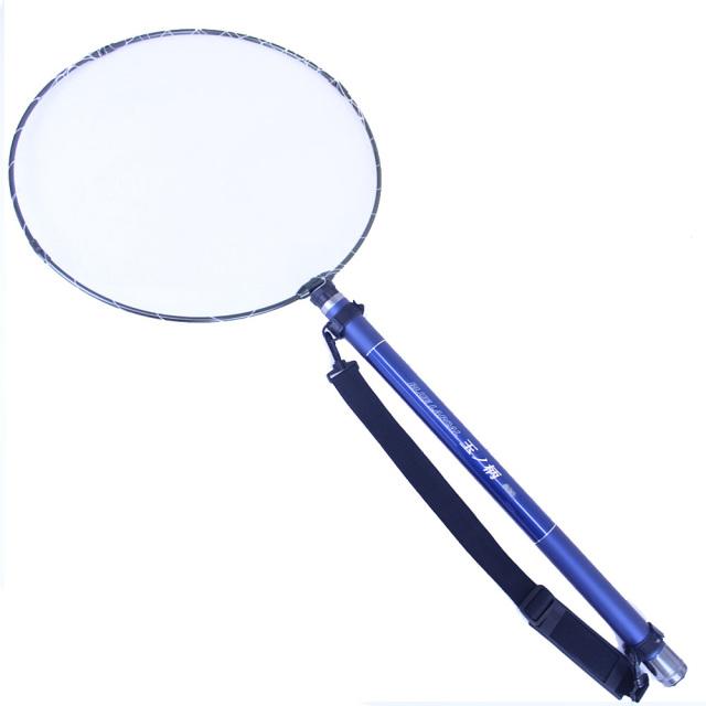 玉の柄500 2点セット 強化アルミ 四つ折り玉枠50cm & 小継 玉の柄 BLUE LARCAL500 (landingset098)