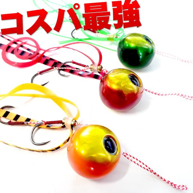 コスパ最強タイラバ3色セット!フライデータイラバ60g 3色セット(ori-955450)