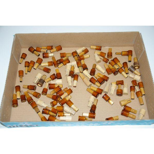 【アウトレット】在庫処分品 へら道具、木、竹製、竿掛け、用口栓 100個 (out-iwa-170901-514)