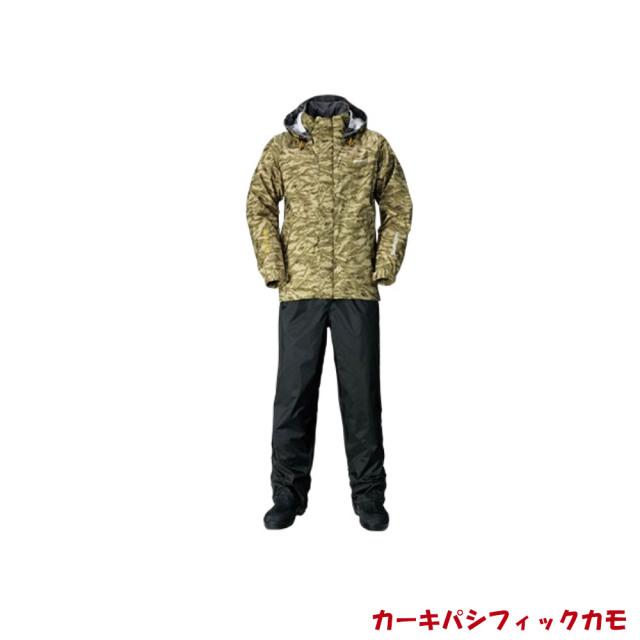 シマノ DSベーシックスーツ RA-027Q カーキパシフィックカモ(shi-ra027q-k)