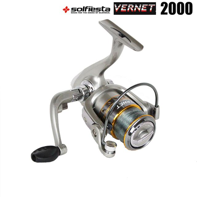 糸付スピニングリール solfiesta スピニングリール VERNET バーネット 2000 3号100m付(solf-403598)