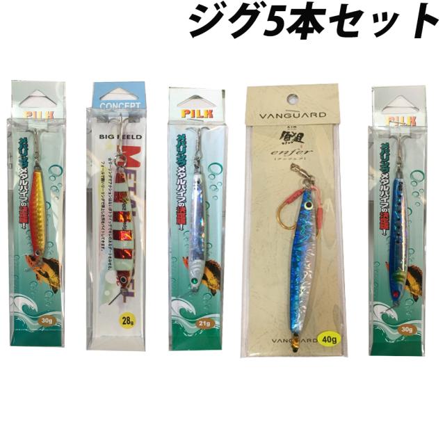 【Cpost】ショアジグ5本セット(solf-jigset)