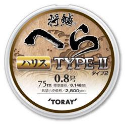 【Cpost】将鱗 へら TYPE-II ハリス 75m 0.5号