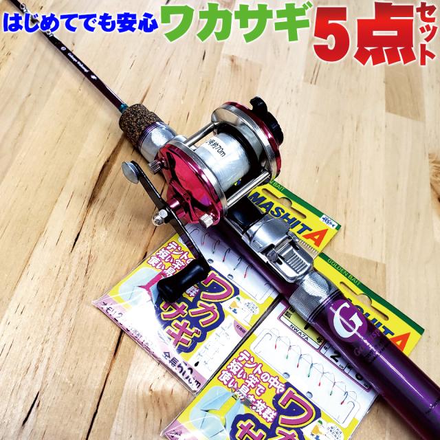 ワカサギ釣りはこれだけでOK!簡単ワカサギセット 60サイズ (wakasagi-21-5set)
