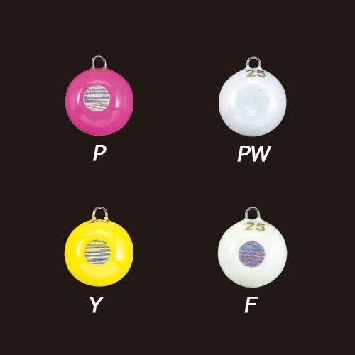 【Cpost】ヤマシタ 目玉シンカー 25号 P (ピンク)/PW (パールホワイト)/Y (イエロー)/F (グロー) (yamaria-3325)