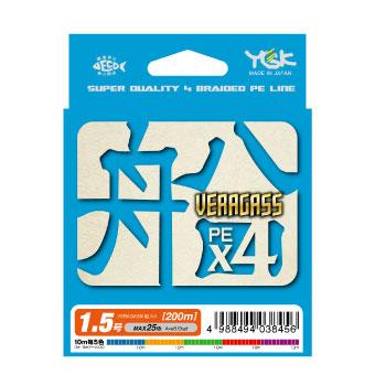 【Cpost】YGKよつあみ ヴェラガス船 X4 300m 4.0号 10mX5色 (ygk-038548)