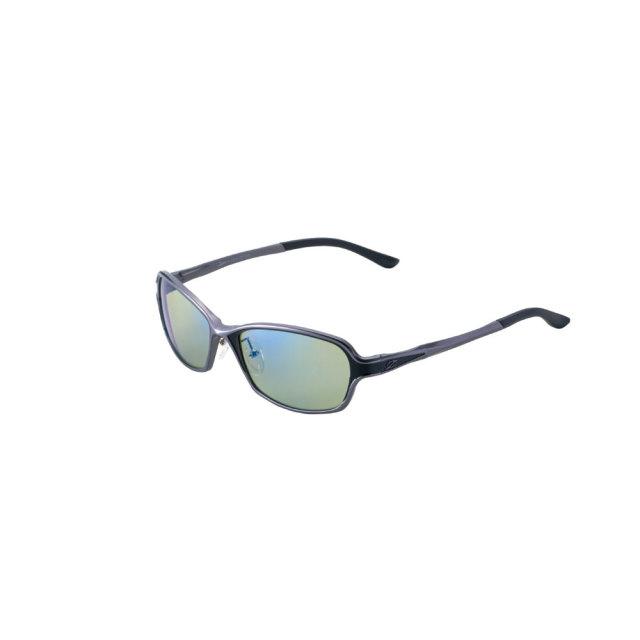 偏光 サングラス ジールオプティクス ドリオ F-1662 ガンメタルブラック/イーズグリーンブルーミラー(zeal-166795)