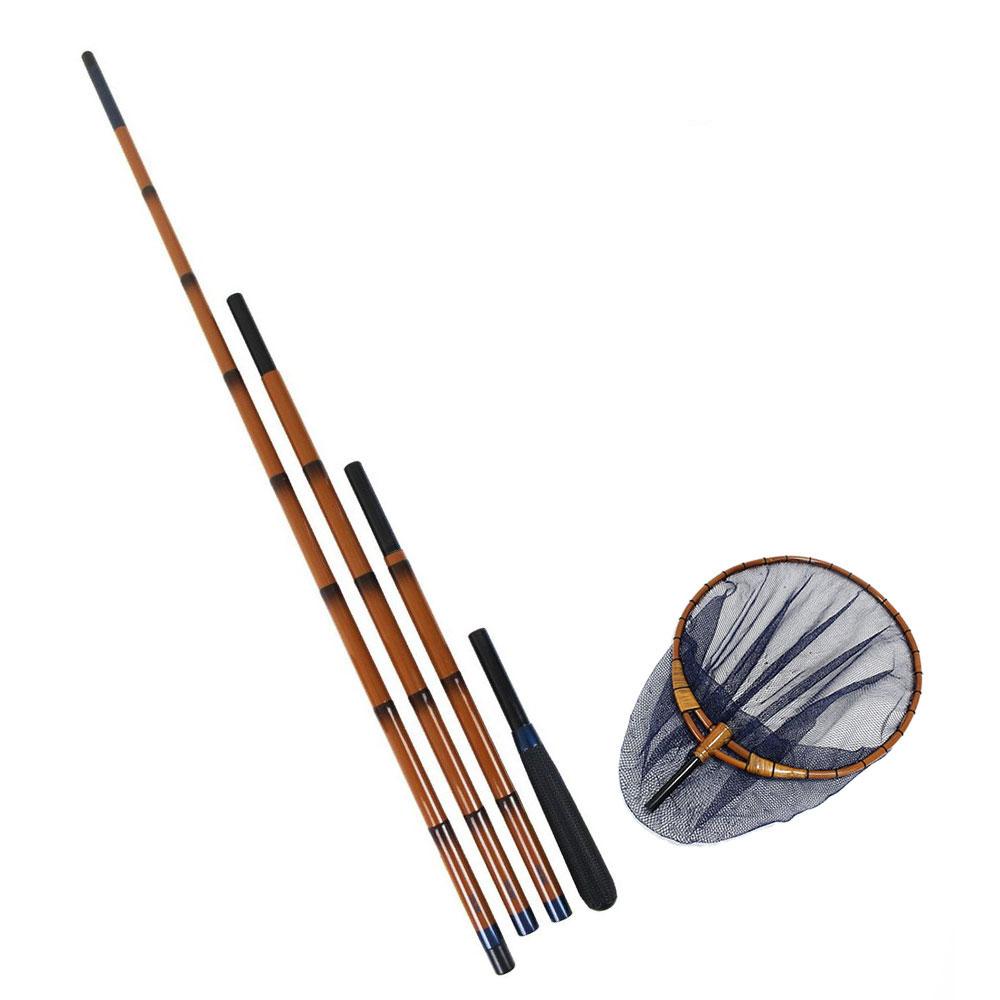 オリジナルへらぶな竹製加工枠玉網セット 2本物口巻き(ori-heratama07)