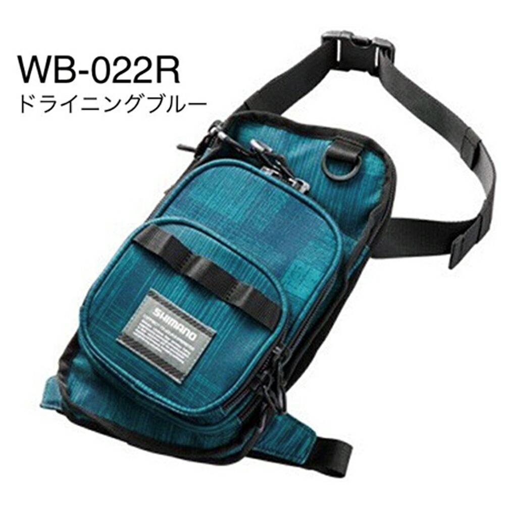 シマノ WB-022R Dブルー L ランガンレッグバック(shi-654748)