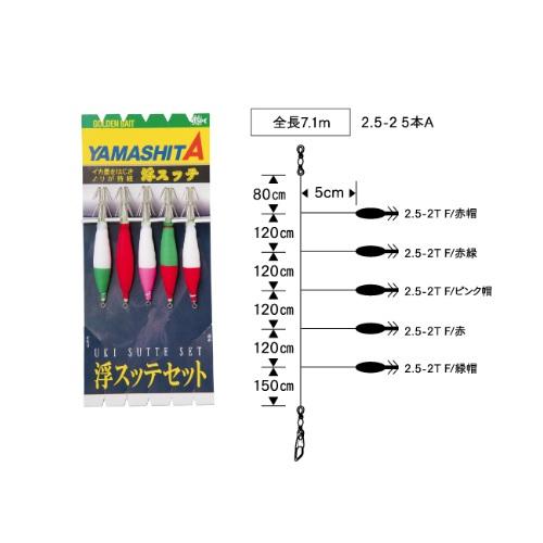 【Cpost】ヤマシタ 浮スッテセット 2.5-2 5本A(yamaria-562279)