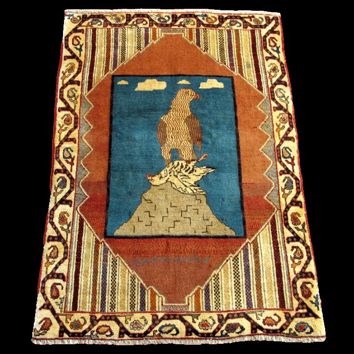 ギャッベ/カシュガイ、絨毯のような細かな織 172×112cm(AL-4123)