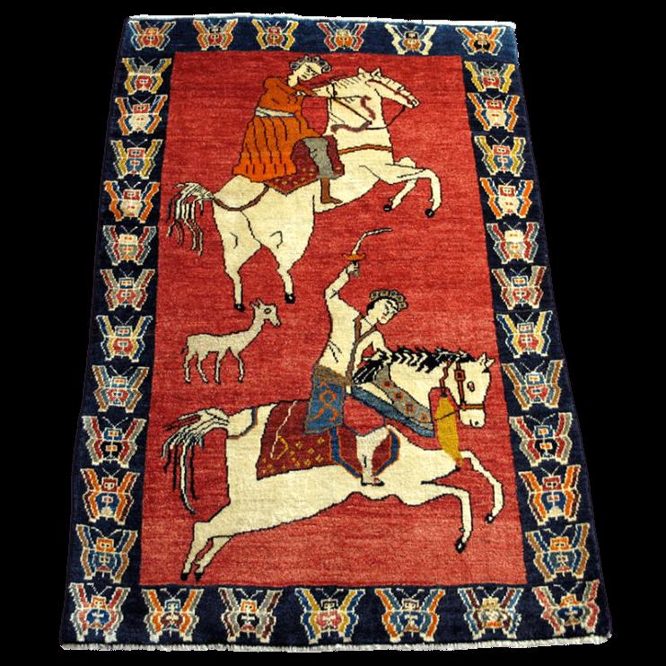 ギャッベ/カシュガイ、絨毯のような細かな織 182×118cm(AL-4140)