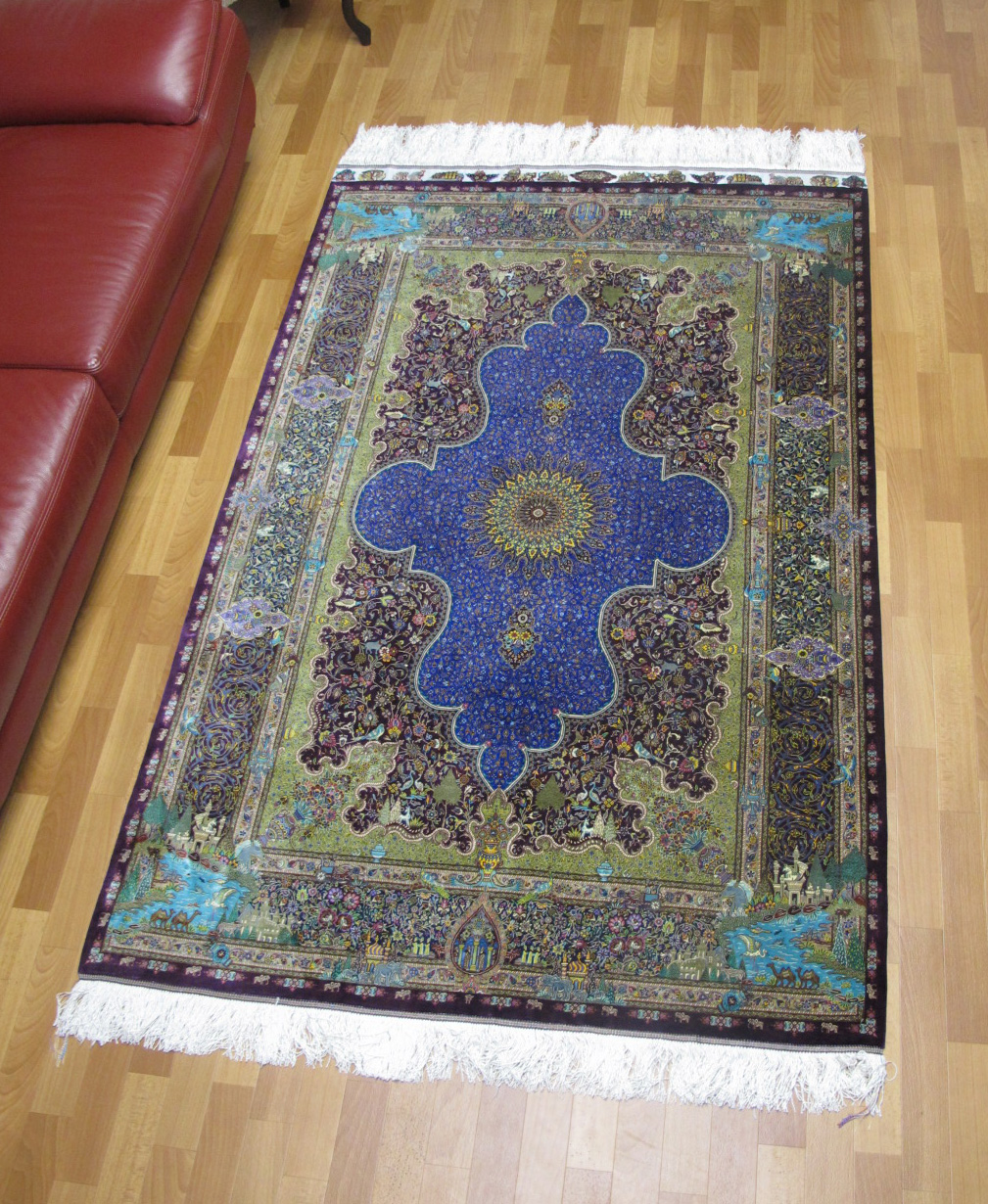 ペルシャ絨毯クムシルク、ジャムシーディ工房