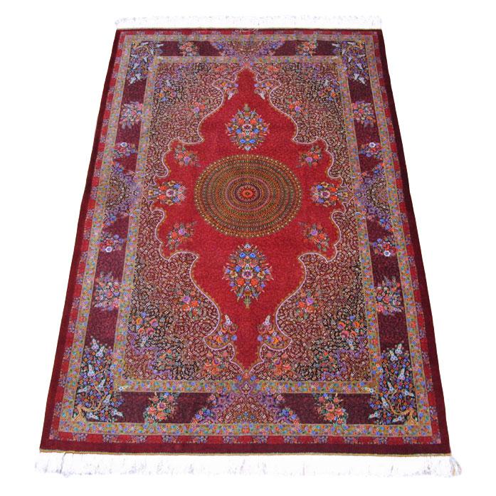 ペルシャ絨毯クム、シルク100% 193×131cm(FL-160908)