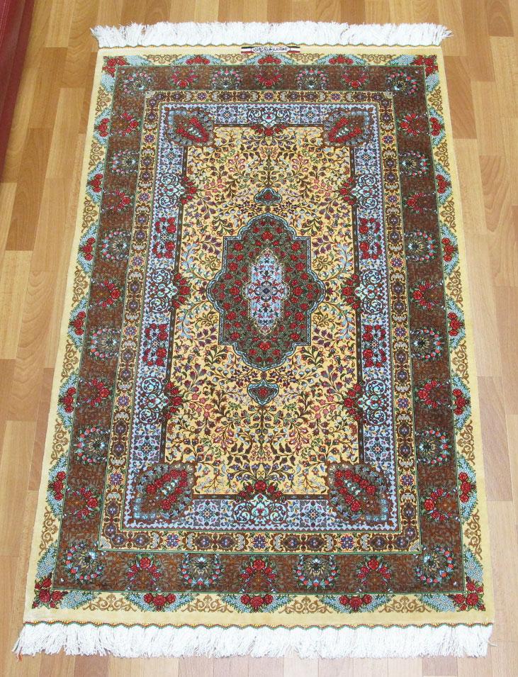 ペルシャ絨毯クムシルク、ラジャビアン