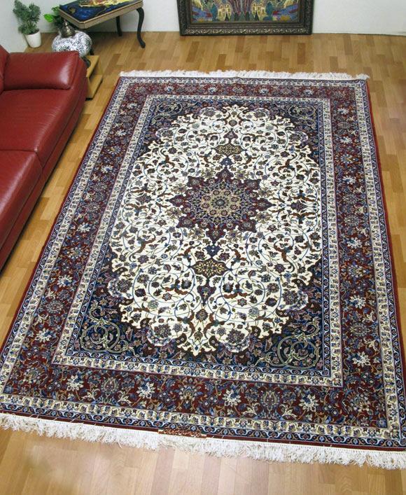 ペルシャ絨毯イスファハン・セーラフィアン 313×210cm(FX-74)