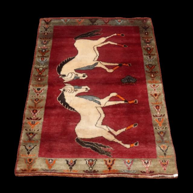 ギャッベ/カシュガイ、絨毯のような細かな織 196×123cm(AL-4119)