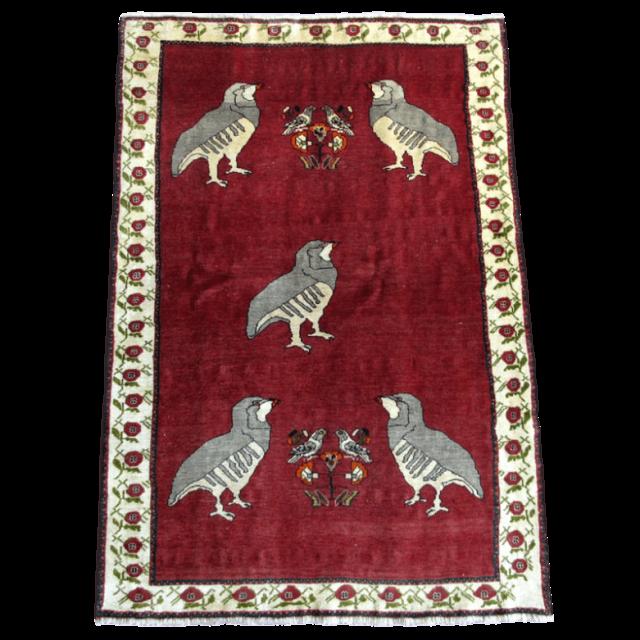 ギャッベ/カシュガイ、絨毯のような細かな織 179×121cm(AL-4117)