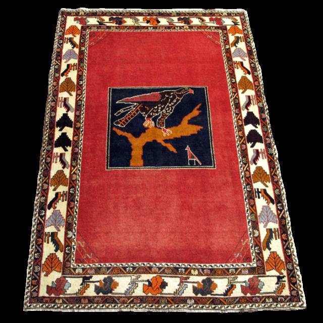 ギャッベ/カシュガイ、絨毯のような細かな織 210×138cm(AL-4139)