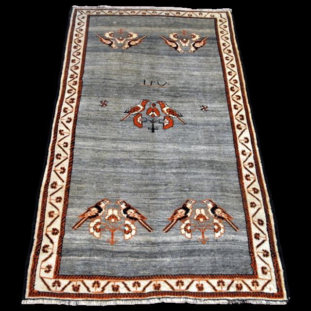 ギャッベ/カシュガイ、絨毯のような細かな織 234×143cm(AL-4145)
