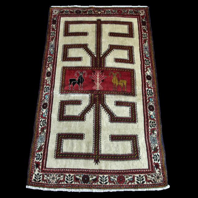 ギャッベ/カシュガイ、絨毯のような細かな織 177×105cm(AL-4170)