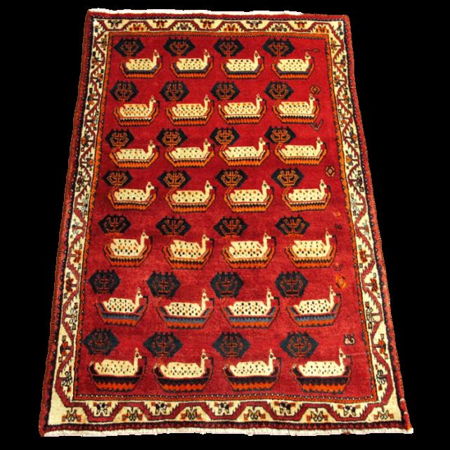 ギャッベ/カシュガイ、絨毯のような細かな織  187×120cm(AL-4195)