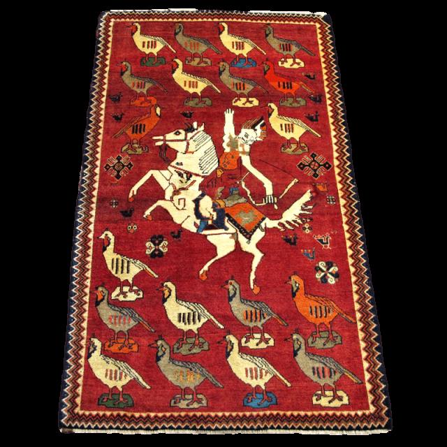 ギャッベ/カシュガイ、絨毯のような細かな織  196×111cm(AL-4196)