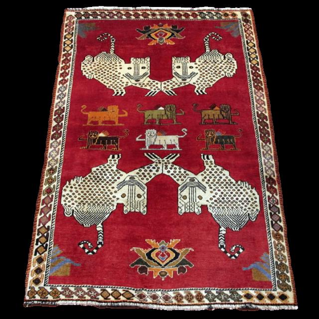 ギャッベ/カシュガイ、絨毯のような細かな織 189×122cm(AL-4223)