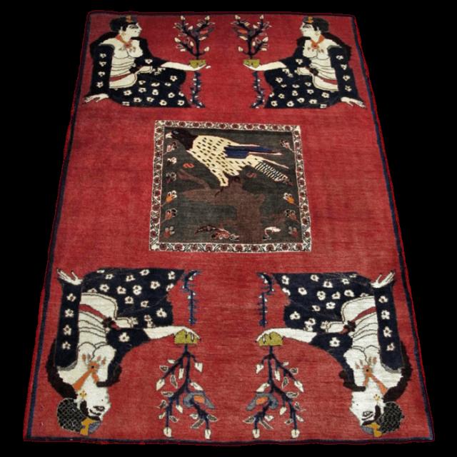 ギャッベ/カシュガイ、絨毯のような細かな織 167×112cm(ALB-4162)