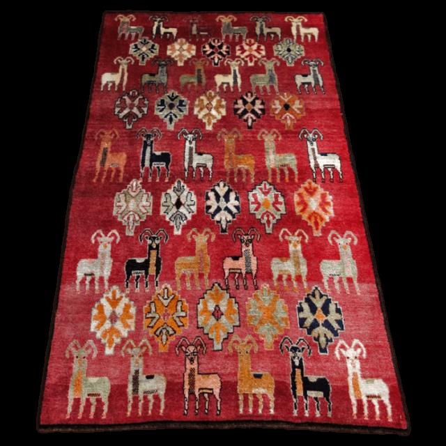 ギャッベ/カシュガイ、絨毯のような細かな織 189×112cm(ALB-4194)