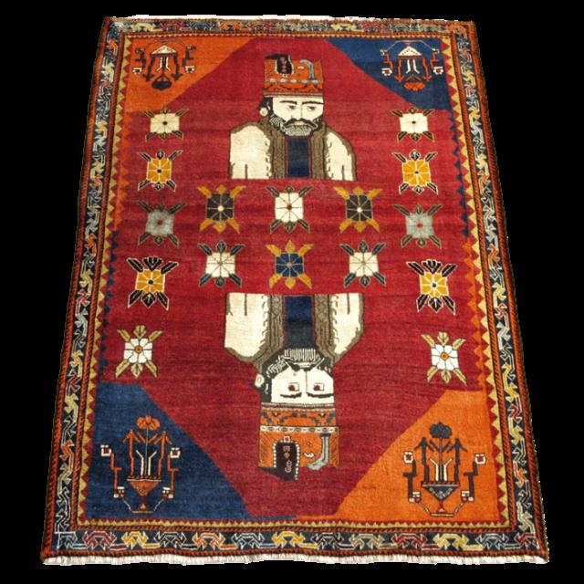 ギャッベ/カシュガイ、絨毯のような細かな織 168×120cm(AM-4096)
