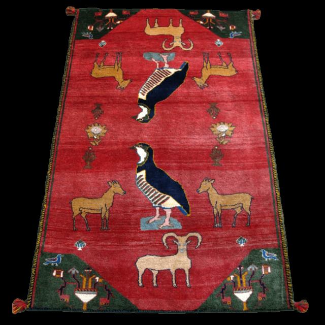 ギャッベ/カシュガイ、絨毯のような細かな織 162×101cm(AM-4160)