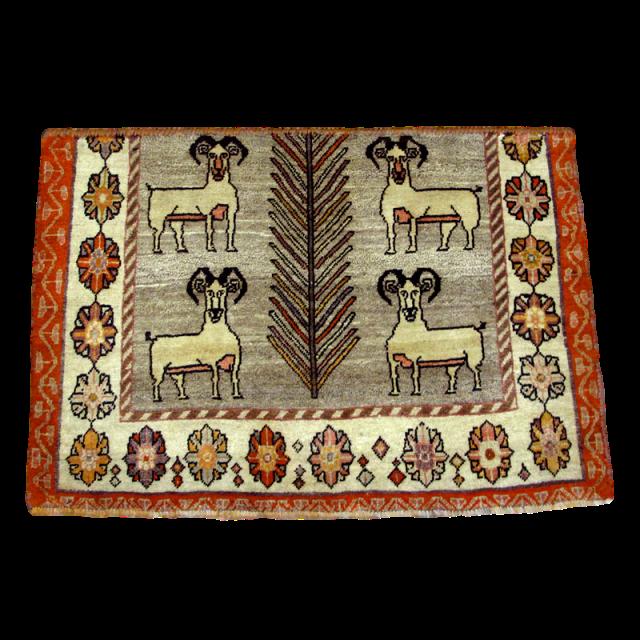 ギャッベ/カシュガイ、絨毯のような細かな織 81×119cm(AS-41113)