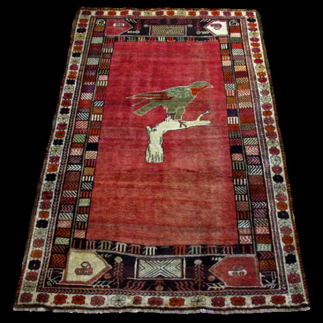 ギャッベ/カシュガイ、絨毯のような細かな織 252×158cm(AX-4120)